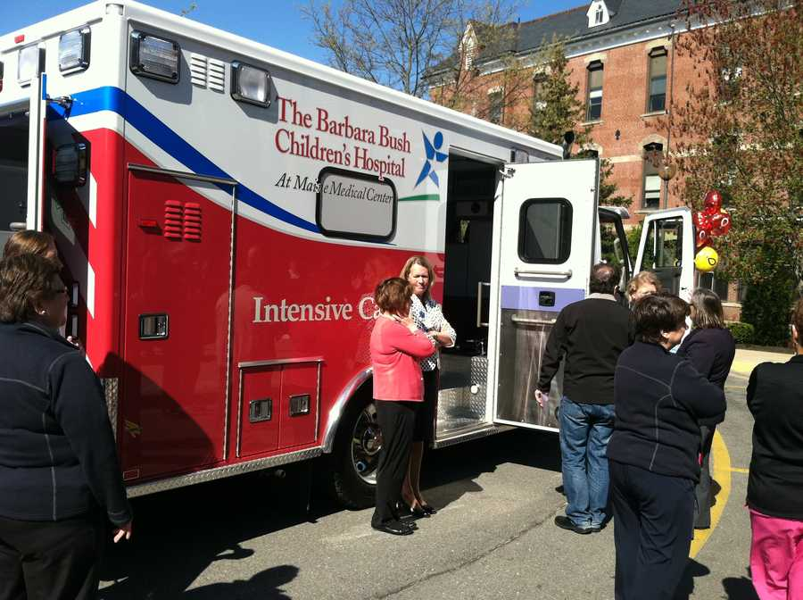 The Barbara Bush Children's Hospital at Maine Medical Center unveiled a new pediatric ambulance.