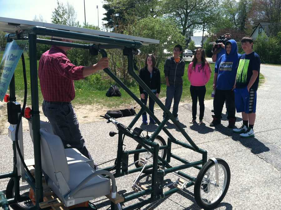 The students hope, with more modifications, it will become a viable passenger vehicle.