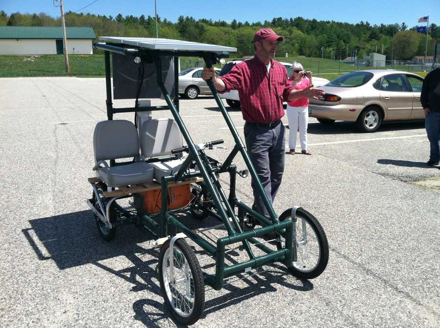 The car is not considered street legal and essentially, resembles a cross between a golf cart and a Model T.