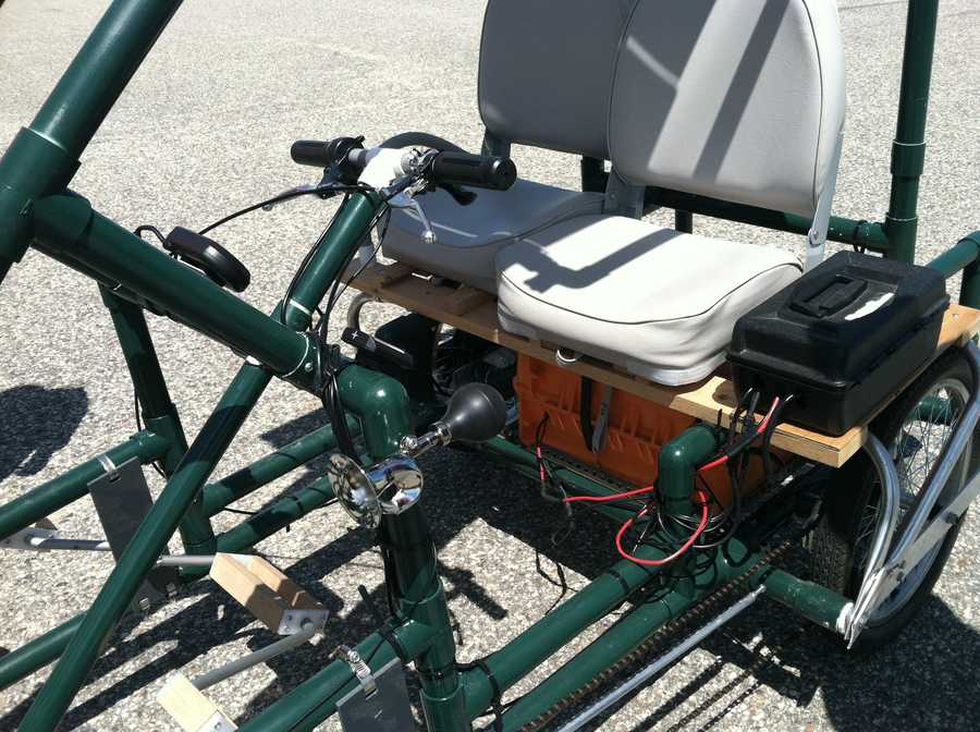 The car runs off a 1,920-watt electric motor.