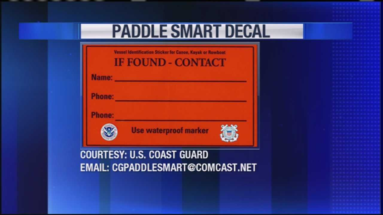 As more people get ready to head out onto the water, the Coast Guard wants to make sure boaters are prepared in case of an emergency. They're asking you to mark your watercraft. WMTW News 8's Thema Ponton has the details on their Operation Paddle Smart program.