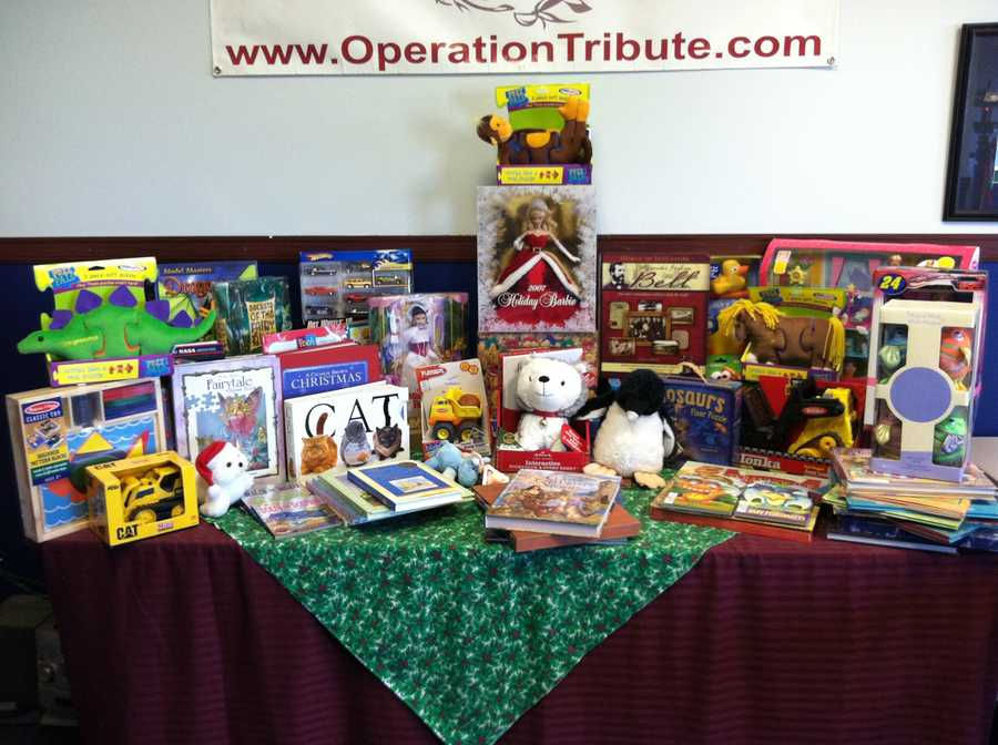 It's an organization that sends holiday gifts to the children of military families.