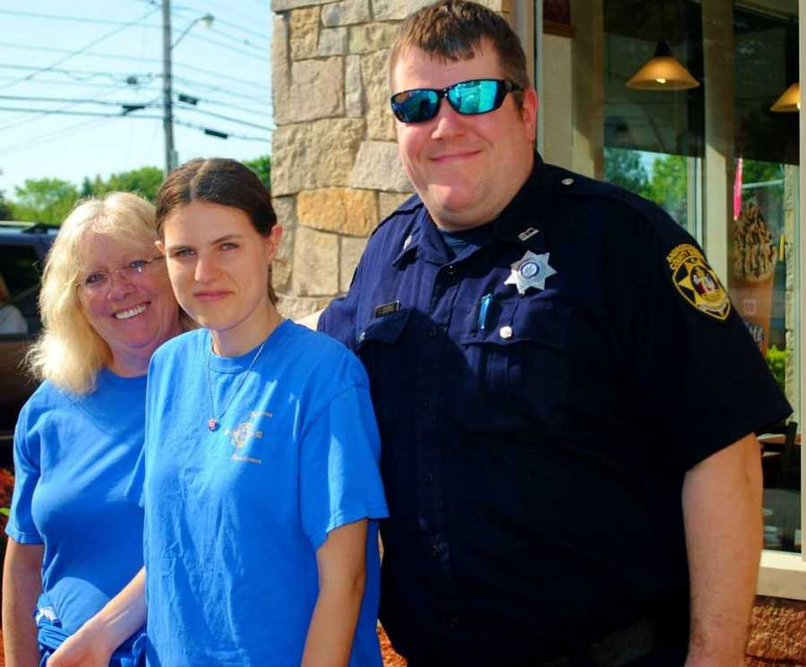 Five officers were teamed up with five Special Olympics Athletes.