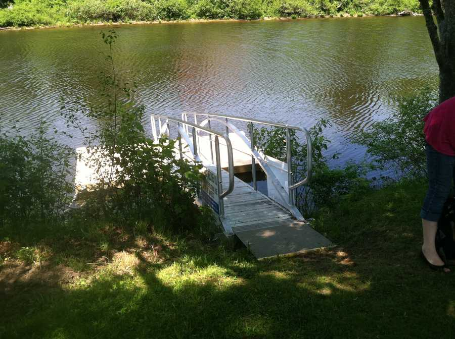 This ramp is one of three that will offer free kayak rentals to Westbrook residents.