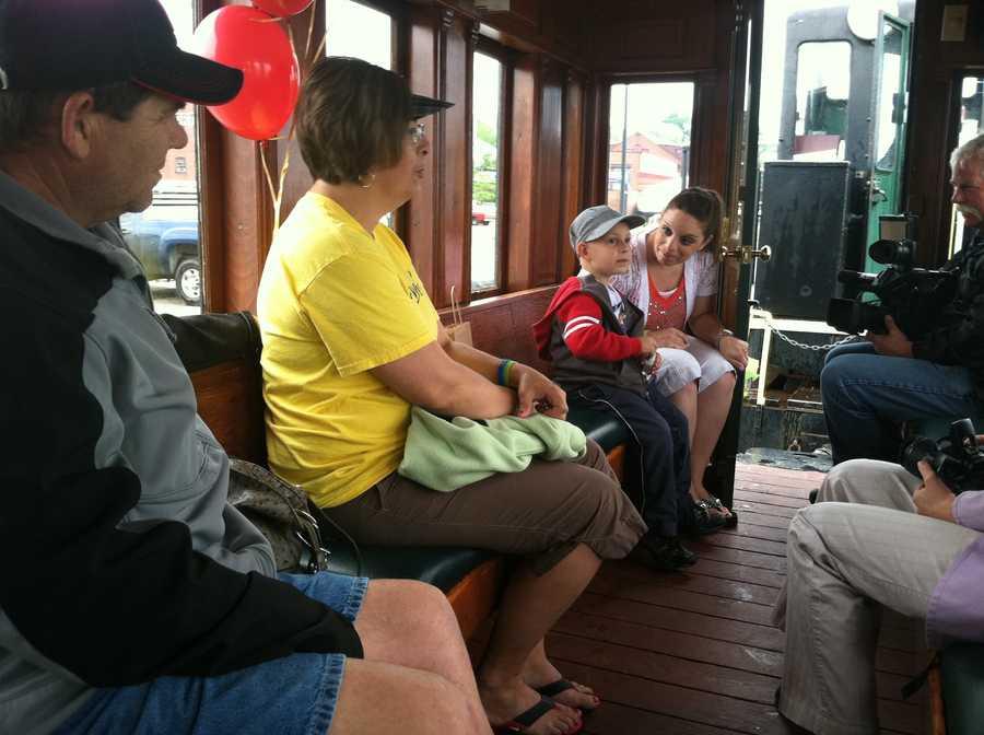 "His wish was to ""ride a choo-choo train and go fishing with grandpa."""