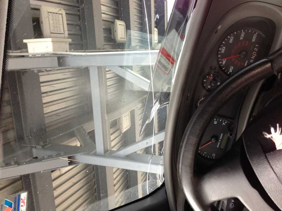 The next three photos show what the driver's perspective was inside the truck.