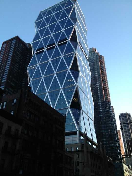 A picture of the Hearst Tower located at 300 West 57th Street in New York.