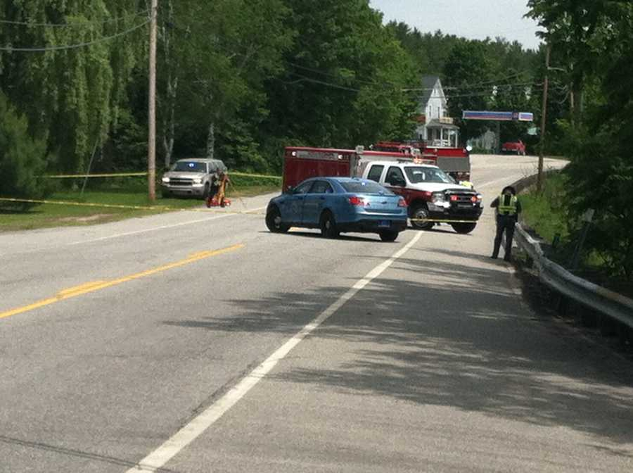 Maine State Police said a Trek Across Maine bicyclist from Massachusetts was killed in an accident Friday morning.