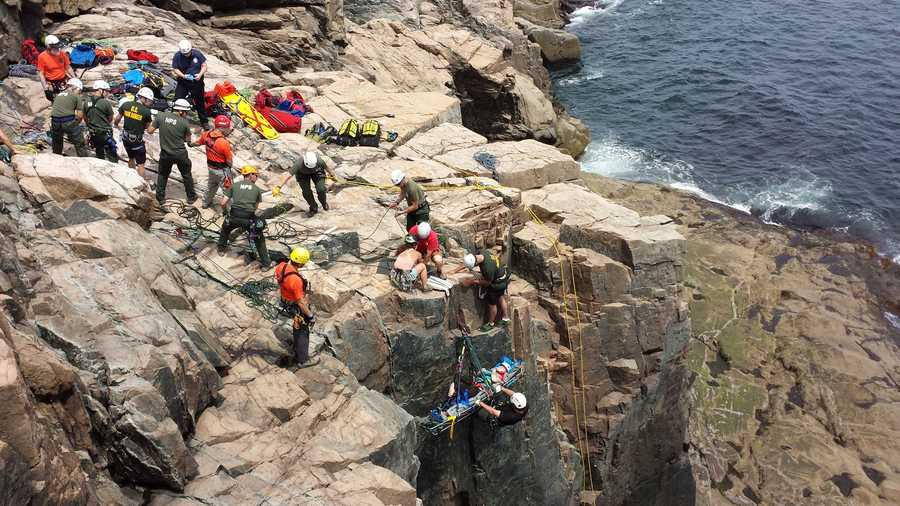 Two hikers had to be rescued over the weekend in Acadia National Park.