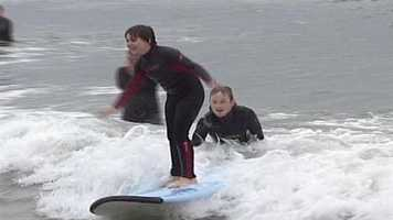 A program in York County is teaching children with special needs how to surf.