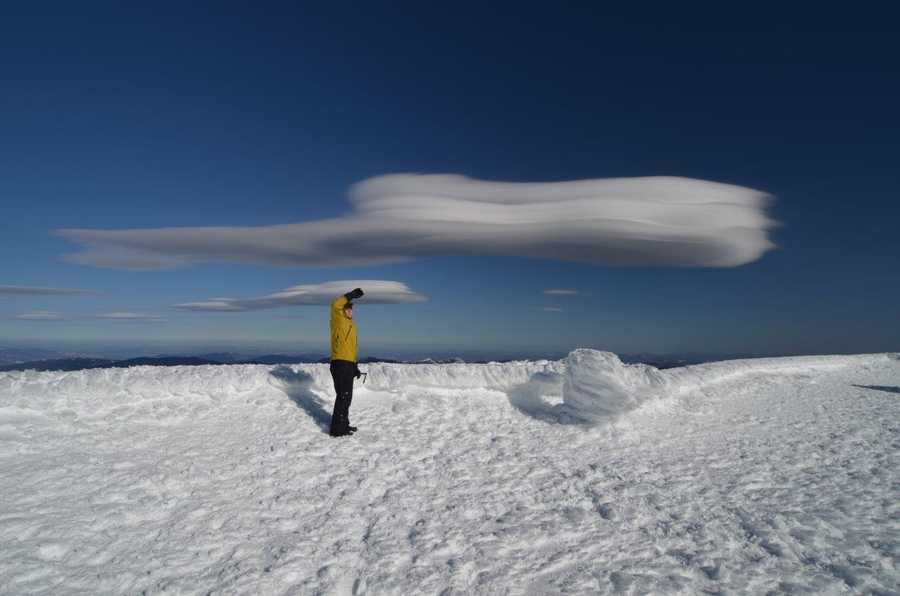 The average annual snowfall on the summit of Mount Washington is 281 inches.