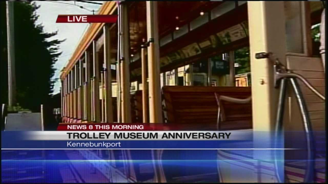 It's the largest electric railway museum in the world and Saturday the Seashore Trolley Museum is celebrating it's 74th anniversary. News 8's Katie Thompson has a preview from Kennebunkport.