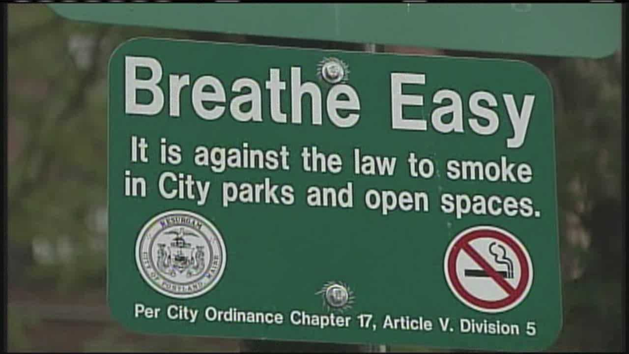 Portland police issue first smoking ban citation