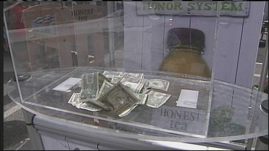 The company set up unmanned kiosks stocked with bottled teas next to a box of money asking people to drop a dollar in to take a bottle. The whole time, people were secretly recorded.