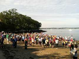 The 32nd Annual Peaks to Portland swim was held Saturday morning.