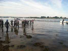 The swim ends at Portland's East End Beach.