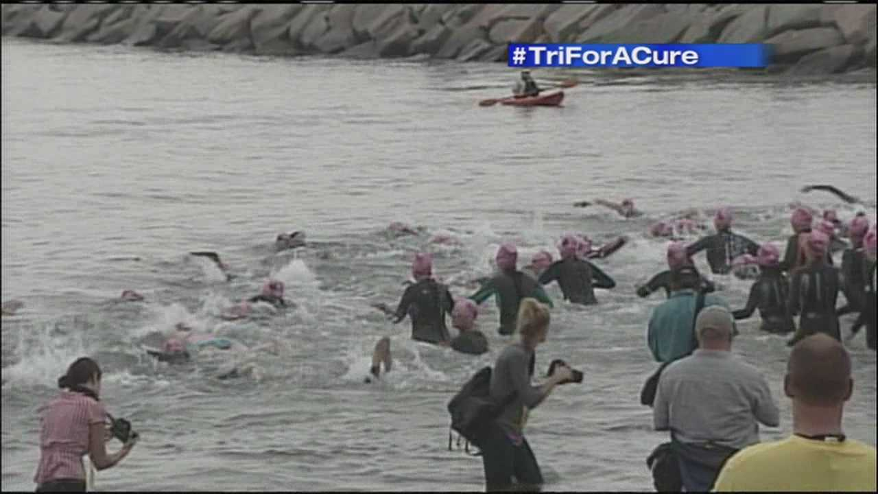 The Tri for a Cure is the Maine Cancer Foundation's biggest fundraiser each year. More than a thousand women will be swimming, biking and running for a cure on Saturday. News 8's Katie Thompson has preview of Saturday's Expo from South Portland.
