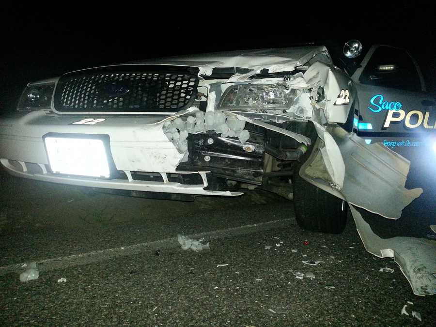 Police said the incident caused $25,000 in damage to three cruisers.