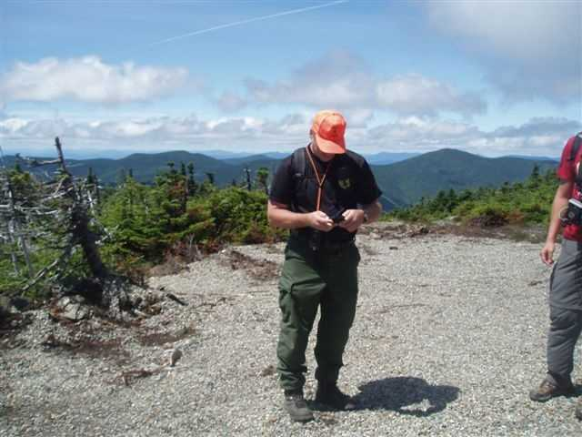 Game Warden Sgt. Jeff Spencer helped the search for missing hiker Geraldine Largay on the summit of Sugarloaf Mountain.