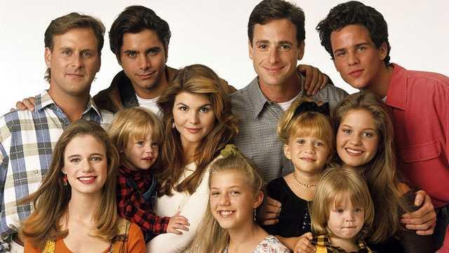 Full House cast photo, blurb size