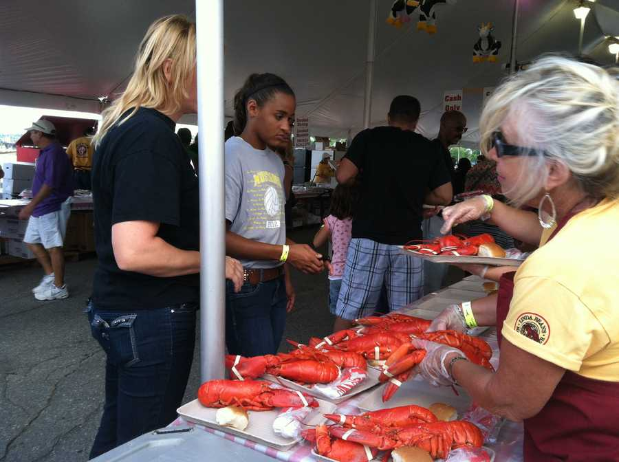The first festival in 1947, held in Camden, offered all-you-can-eat lobster for $1. The festival lost money and organizers in Camden decided not to bring it back for a second year. That's when the Rockland Junior Chamber of Commerce decided to bring the festival to Rockland.
