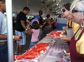 More than 20,000 lobsters weighing 25,000 pounds will be served.