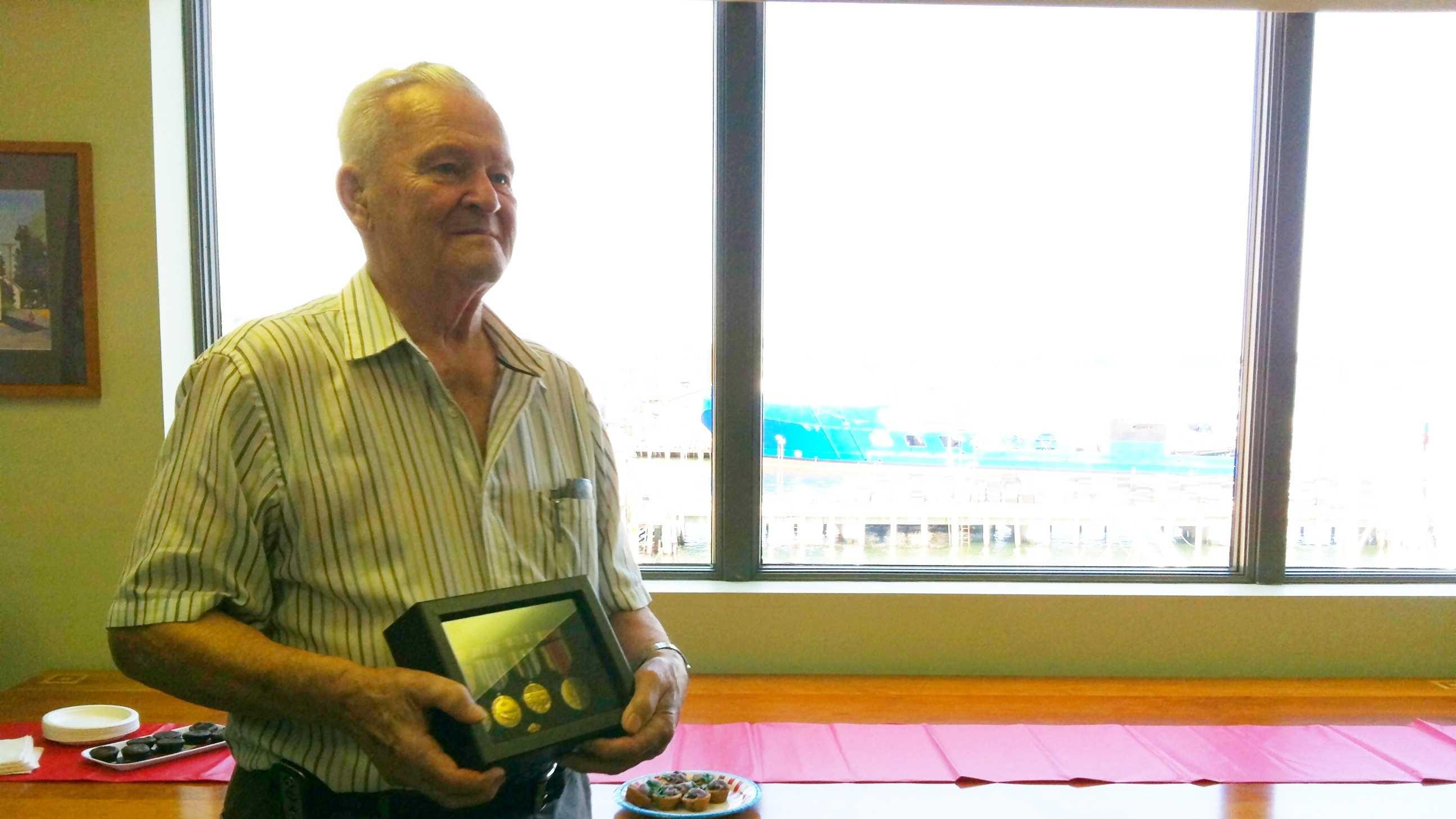 Veteran gets medals
