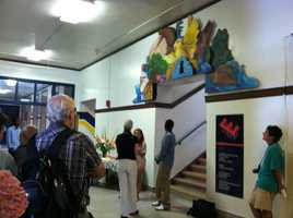When students return to Portland High School they'll be greeted at the main entrance by a series of three new murals.