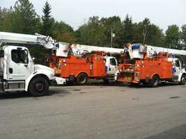 CMP brought in extra crews to restore power.