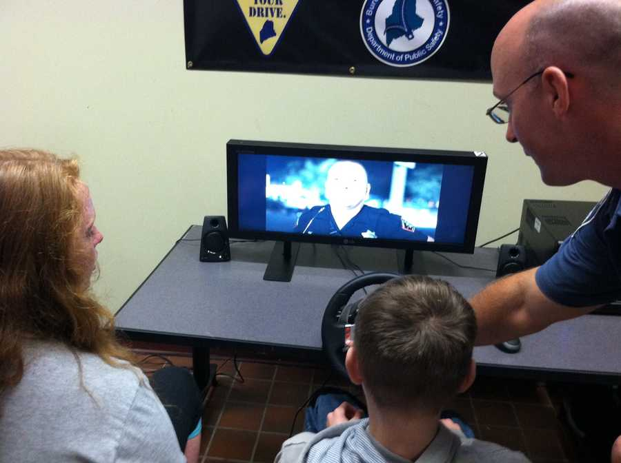 The Kennebunk Police Department brought a driving simulator to the school for students to try out.