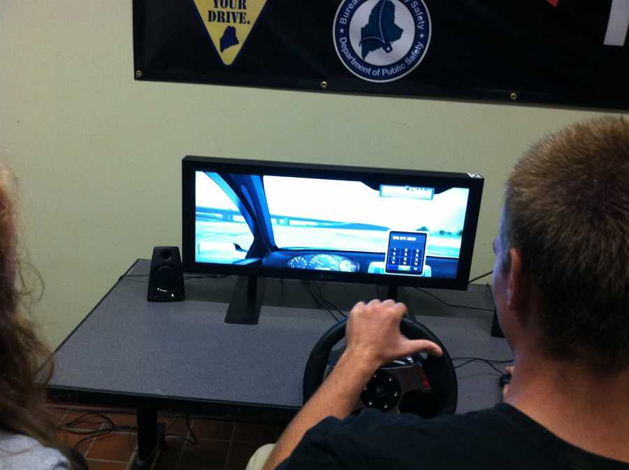 The simulator allows teens to drive several different routes and teach them critical driving skills without putting them in danger.