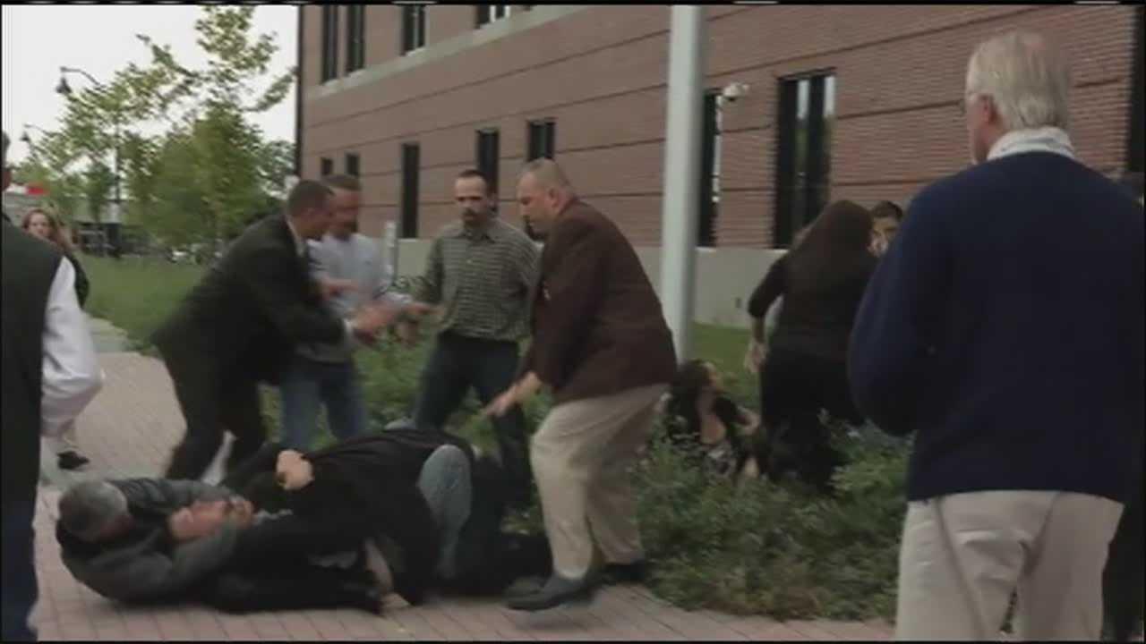 img-Brawl breaks out outside Bangor courthouse