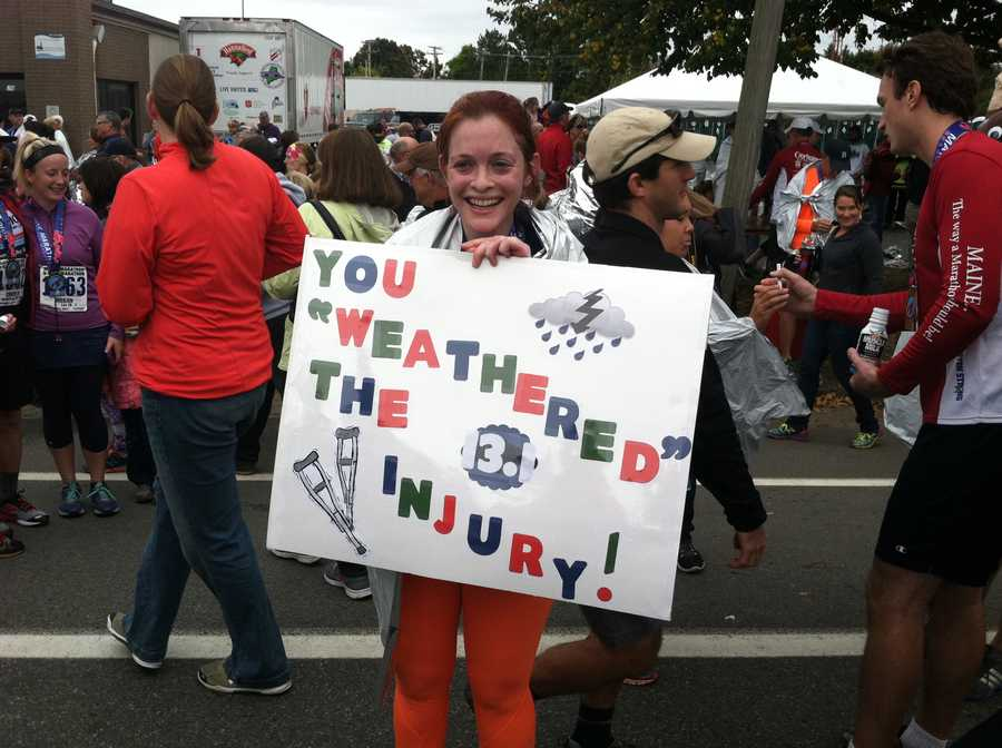 WMTW News 8 meteorologist Mallory Brooke is all smiles after finishing the half marathon Sunday morning in Portland. Mallory ran the course in 2 hours, 27 minutes, 27 seconds.