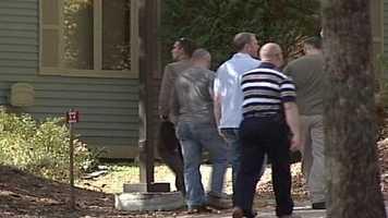 Later that evening, FBI agents could be seen going door-to-door asking neighbors for information.
