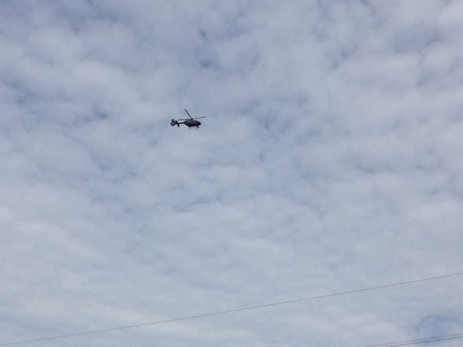Crews searched from the ground and air on Friday, Oct. 11.