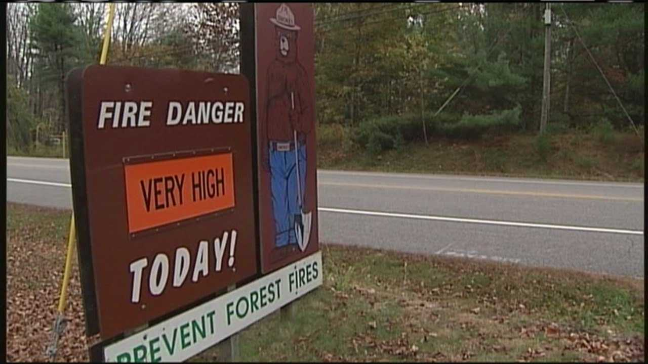 Forest Service warns of high fire danger in Maine