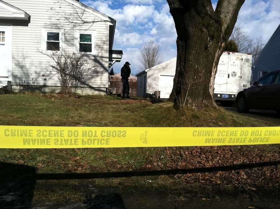 December 22, 2011: Crime tape goes up around Waterville home at 29 Violette Ave. State Police Mobile Crime Unit arrives. Prosecutor Bill Stokes summoned to scene