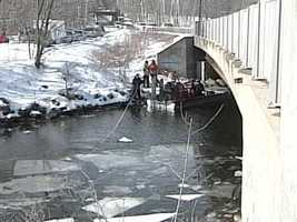 December 20, 2011: Messalonskee Stream drained to aid warden service search and FBI goes door-to-door