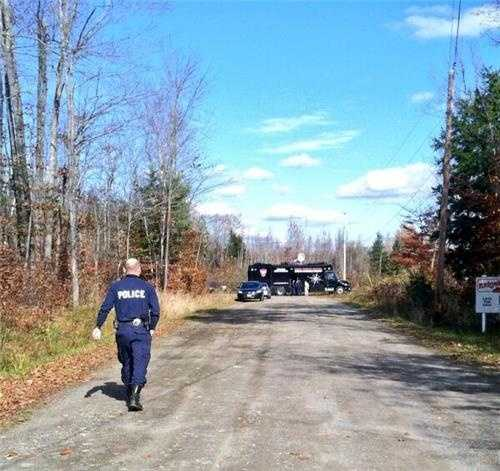 The area being searched was a combination of woods, clear-cut and a small pond.