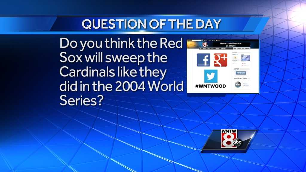 Do you think the Red Sox will sweep the Cardinals like they did in the 2004 World Series?
