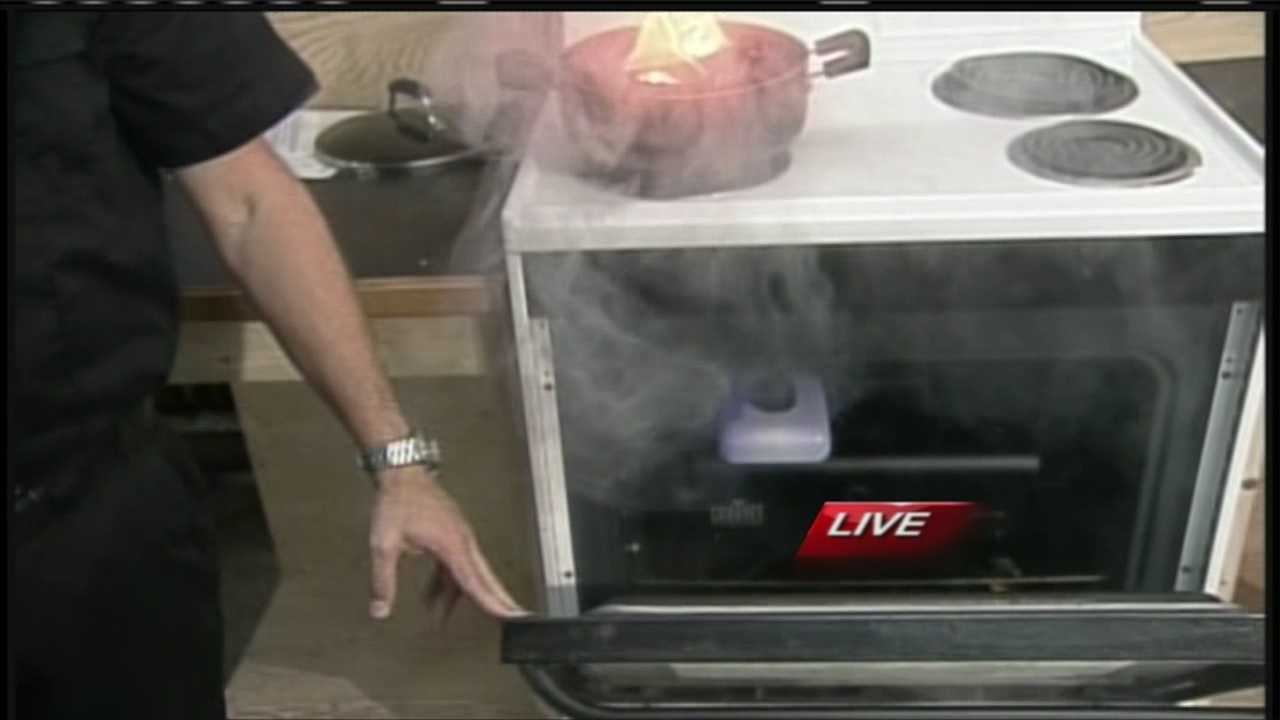 October is fire prevention month and with it, the Portland Fire Department is focusing on fire safety in the kitchen. WMTW News 8's Katie Thompson was at the Central Fire Station in Portland with tips on how you can protect yourself and your family.