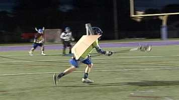 More than 200 lacrosse players put on their Halloween costumes for a ghoulish lacrosse tournament in Portland on Sunday.