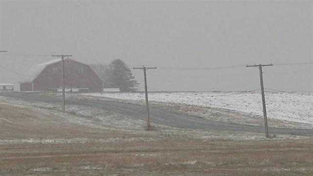 Parts of Aroostook County saw its first measurable snow of the season on Monday. Some areas saw up to 4 inches of snow.
