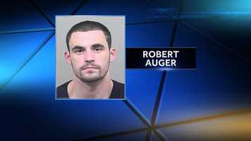 Robert Paul Auger is charged with burglary and theft.