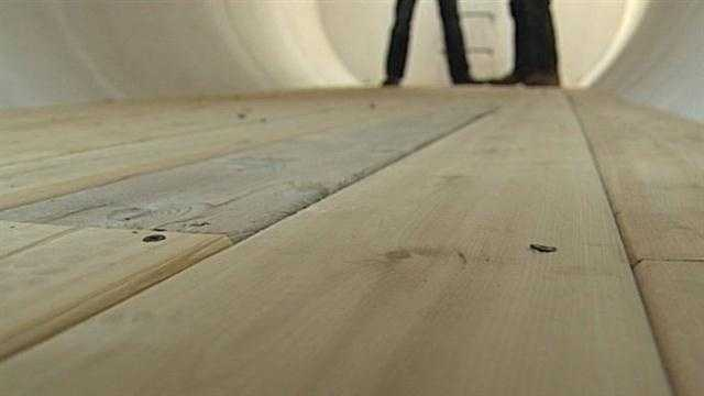 The floors are made of cedar because Woodworth said cedar doesn't rot.
