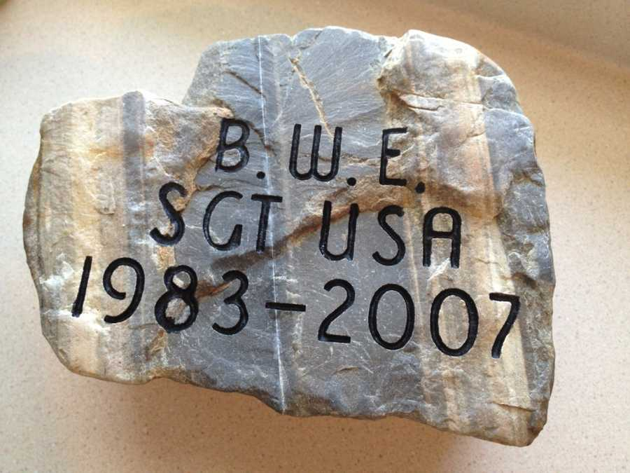 To honor SGT Blair W. Emery, his entire Emery family unanimously selected this stone from their homestead in Lee, Maine. Click here to learn more about SGT Emery.