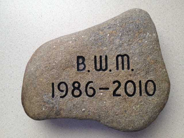 To honor PFC Buddy W. McLain, his father, Larry McLain retrieved this stone from Evan's Notch in the White Mountain National Forest in South Oxford, Maine. Click here to learn more about PFC McLain.
