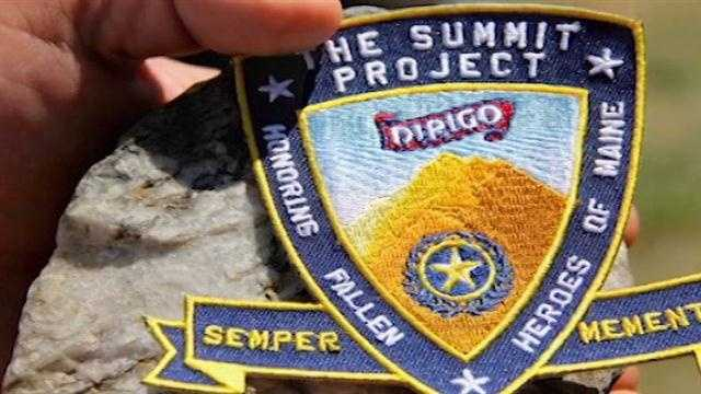 Maj. David Cote started the Summit Project and is honoring the soldiers with a simple stone.