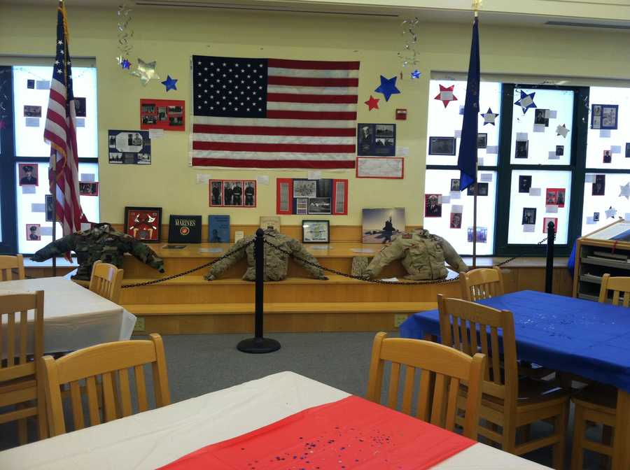 """The students have also created a wall to honor the veterans, which they're calling the """"Wall of Honor."""""""