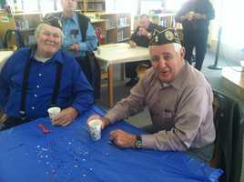 About 30 veterans representing conflicts from World War II to the Iraq and Afghanistan wars joined the students and shared their stories.